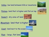 Landforms for Activboard