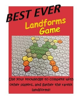 Landforms geography and geology game for multi-players