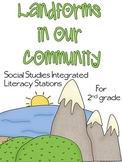 Landforms in Our Community Literacy Stations