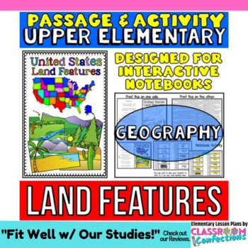 Landforms Passage And Questions US Land Features By Elementary - Landforms of the united states