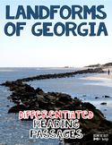 Landforms of Georgia Differentiated Reading Passages Nonfiction Text