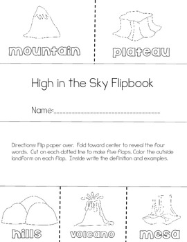 Landforms of the Earth Flipbooks