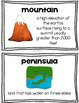 Landforms of the Earth Posters
