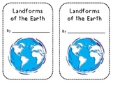 """""""Landforms of the Earth"""" booklet"""