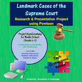 Landmark Cases of the Supreme Court - Research & Presentation using Powtoon