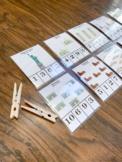 Landmark Count & Clip Cards 1-20- BUNDLE Montessori- Fine Motor -Homeschool.