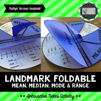 Landmark (Mean, Median, Mode & Range) Interactive Notes Activity