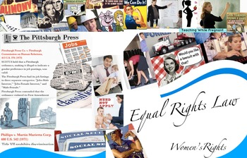 US Supreme Court Law Equal Rights ~ Women ~ FREE POSTER