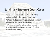 Landmark Supreme Cases Word Clouds