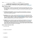 Landmark Supreme Court Case Homework Assignment