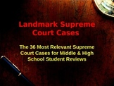 Landmark Supreme Court Case Summaries - 36 Most Significan