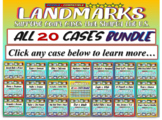 Landmark Supreme Court Cases - 20-CASE BUNDLE (PPTs, handouts & more)