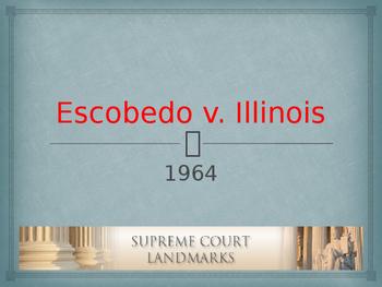 Landmark Supreme Court Cases - Escobedo v. Illinois