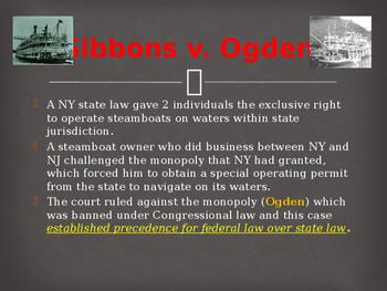 Landmark Supreme Court Cases - Gibbons v. Ogden