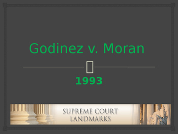 Landmark Supreme Court Cases - Godinez v. Moran