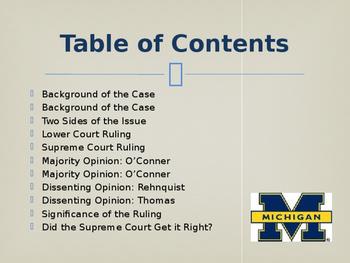 Landmark Supreme Court Cases - Grutter v. Bollinger
