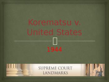 Landmark Supreme Court Cases - Korematsu v. United States