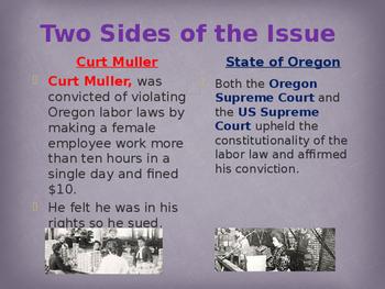Landmark Supreme Court Cases - Muller v. Oregon