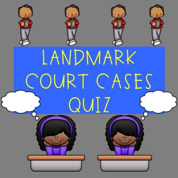 Landmark Supreme Court Cases Quiz