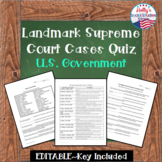 Landmark Supreme Court Cases Quiz