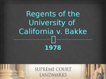 Landmark Supreme Court Cases - Regents of the University o