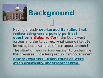 Landmark Supreme Court Cases - Reynolds v. Sims