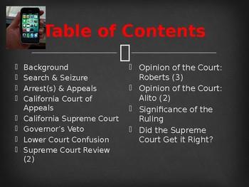Landmark Supreme Court Cases - Riley v. State of California