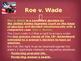 Landmark Supreme Court Cases - Roe v. Wade