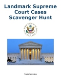 Landmark Supreme Court Cases Scavenger hunt