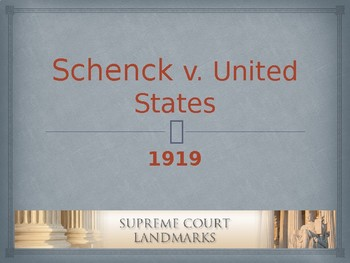 Landmark Supreme Court Cases - Schneck v. The United States