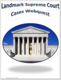 Landmark Supreme Court Cases Social Studies Webquest Internet Activity