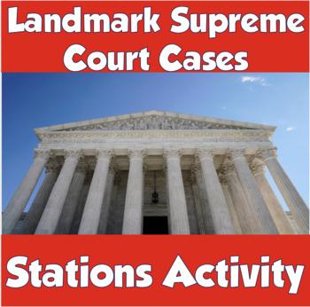 Landmark Supreme Court Cases (Stations Activity)