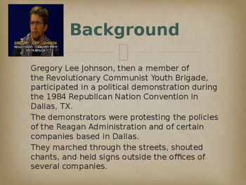 Landmark Supreme Court Cases - State of Texas v. Johnson