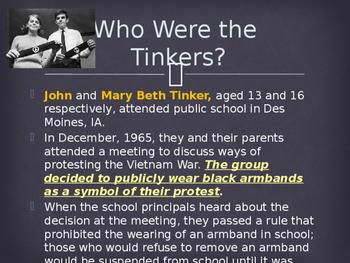 Madison : Tinker v des moines case study