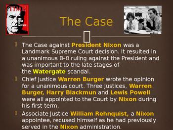 Landmark Supreme Court Cases - The United States v. Nixon
