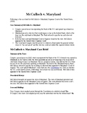 Landmark Supreme Court Decisions: McCulloch v. Maryland