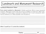 Landmark and Monument Research - Social Studies,Reading Wonders (Third Grade)