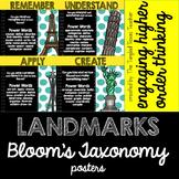 Landmarks Bloom's Taxonomy Posters
