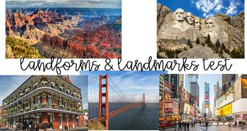 Landmarks/Landforms Assessment