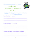 Landmarks & Monuments Research Project
