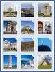 Landmarks Task Cards & Famous World Monuments Matching Game