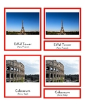Landmarks in Europe (3 part Montessori cards)