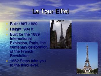 Landmarks of Paris power point