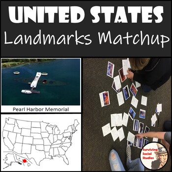 Landmarks of the USA Matchup Activity