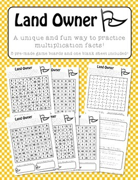 Landowner - A Unique Game to Practice Multiplication Facts