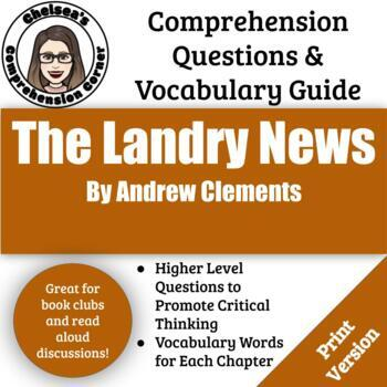 Landry News Comprehension Questions and Vocabulary Guide