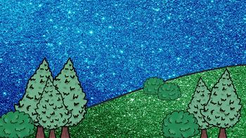 Landscape Backgrounds Glitter