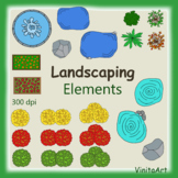 Landscape Design Layout bird's eye view clip art