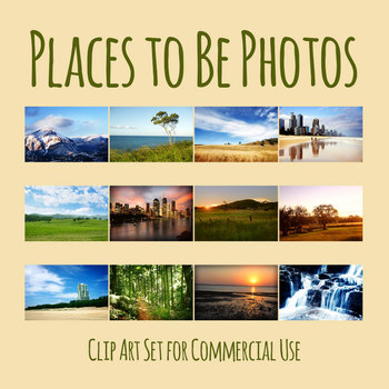 Landscape Digital Photos / Photograph Clip Art Set for Commercial Use