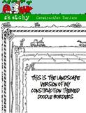 Landscape - Doodle Borders / Frames Construction Themed